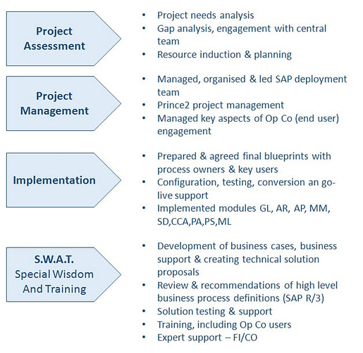 SAP Rollout & Support, Africa & Europe